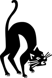 Scary Cat Decal / Sticker 07