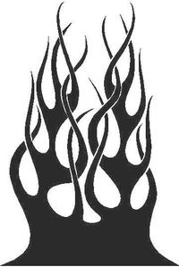 Flames Decal / Sticker 33
