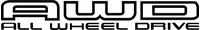 AWD All Wheel Drive Decal / Sticker 03