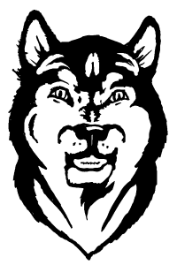 CUSTOM WOLVES MASCOT DECALS AND WOLVES MASCOT STICKERS