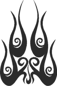 Flames Decal / Sticker 36