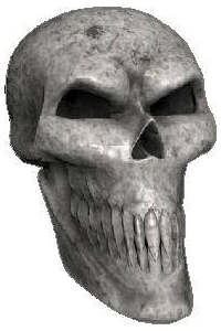 3D Bone Skull 02 Decal / Sticker