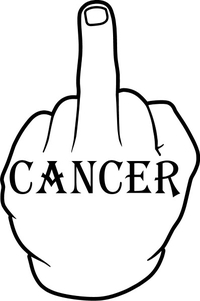 Fuck Cancer Decal / Sticker 05