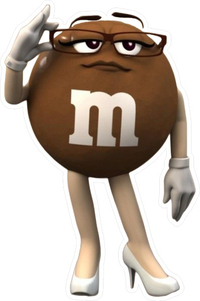 Brown M&M Decal / Sticker 60