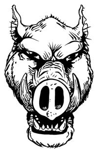 Razorbacks Mascots Decal / Sticker 3