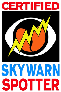 Skywarn Certified Spotter Decal / Sticker 03