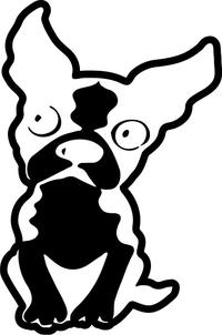 Boston Terrier Decal / Sticker 04