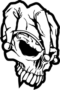 Jester Skull Decal / Sticker 03