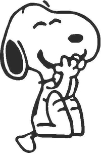 Snoopy Decal / Sticker 04