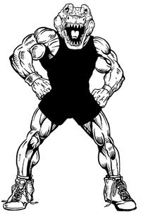 Wrestling Gators Mascot Decal / Sticker 4