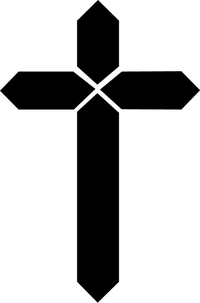 Christian Cross Decal / Sticker 21