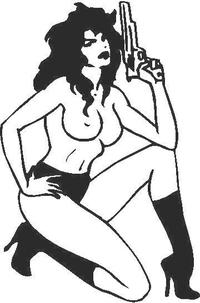 Girl with Gun 01 Decal / Sticker