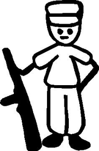 Hunter Stick Figure Decal / Sticker 01