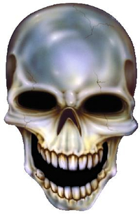 Cracked Skull Decal / Sticker