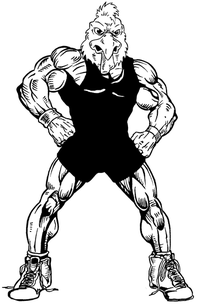 Wrestling Gamecocks Mascot Decal / Sticker 4
