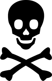 Skull and Cross Bones Decal / Sticker 12