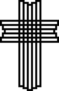 Christian Cross Decal / Sticker 75