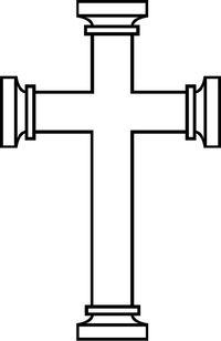 Christian Cross Decal / Sticker 78