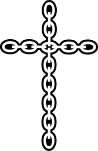Chain Cross Decal / Sticker 92
