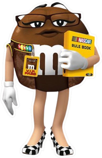 Brown NASCAR M&M Decal / Sticker 55