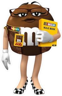 Brown NASCAR M&M Decal / Sticker 55