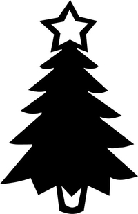 Christmas Tree Decal / Sticker 04