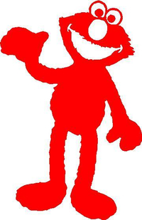 Elmo Decal / Sticker 03