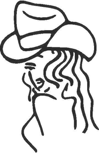 Cowgirl Decal / Sticker 02