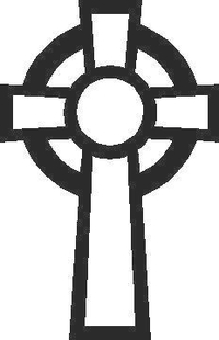 Celtic Cross Decal / Sticker 03
