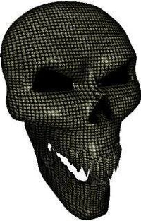 3D Small Circle Skull Decal / Sticker