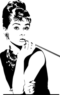 Audrey Hepburn Decal / Sticker