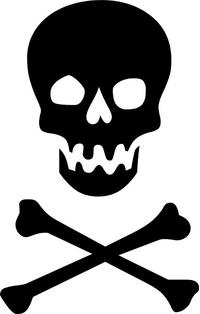 Skull and Cross Bones Decal / Sticker 19