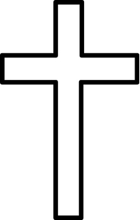 Christian Cross Decal / Sticker 15
