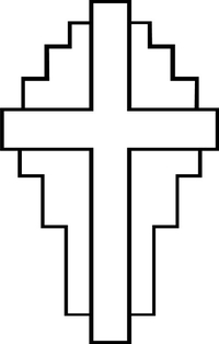 Christian Cross Decal / Sticker 38