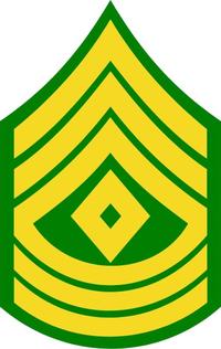 Army 1SG Decal / Sticker 01