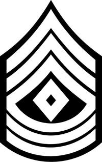 Army 1SG Decal / Sticker 02