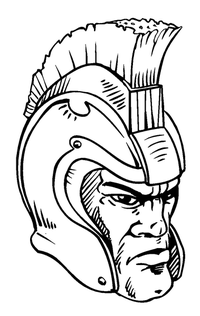 Paladins / Warriors Mascot Decal / Sticker 4