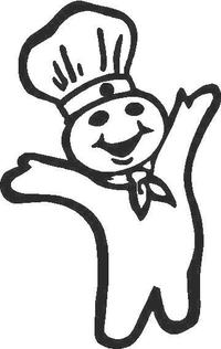 Pilsburry Doughboy  Decal / Sticker