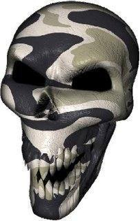 3D Desert Camouflage Skull Decal / Sticker