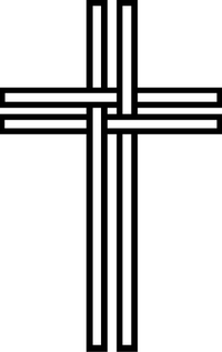 Christian Cross Decal / Sticker 43