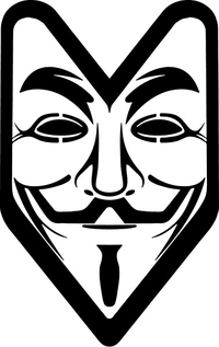 V For Vendetta Anonymous JDM Decal / Sticker 07