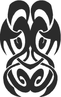 Tribal Decal / Sticker 33