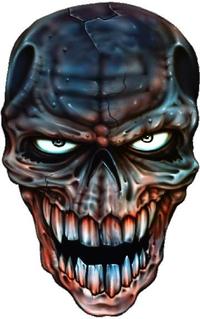 Evil Eyes Skull Decal / Sticker 01