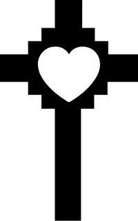 Christian Heart Cross Decal / Sticker 30