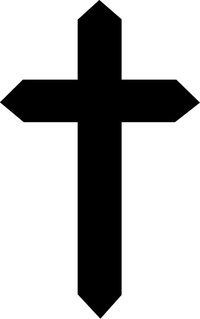 Christian Cross Decal / Sticker 50