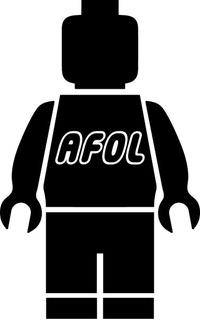 AFOL Lego Man Decal / Sticker 06