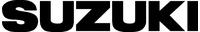 Suzuki lettering decal / Sticker