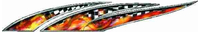 Dragon Flaming Checkered Flag Graphic Decal / Sticker 7