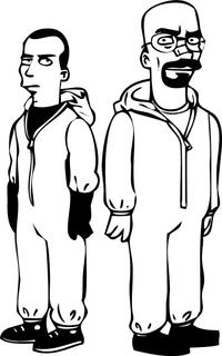 Heisenberg (Walter White) & Jesse Pinkman Simpsons Decal / Sticker 15