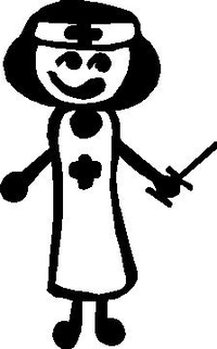 Nurse Stick Figure Decal / Sticker 01
